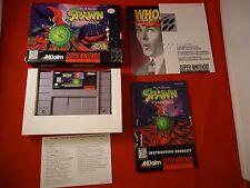 Todd McFarlane's Laichen: das Videospiel (Super Nintendo SNES) komplett mit Box
