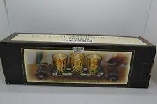"5 PCS Decorative Vintage Look Candle Garden Tealight Set Brown w/ Rocks 13""W #72"