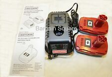 NEW CRAFTSMAN C3 19.2 LITHIUM-ION CORDLESS BATTERY CHARGER  AND 2 BATTERIES