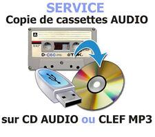 Service de copie de cassettes Audio sur CD ou CLEF