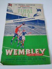 More details for bromley v romford fa amateur cup final 23/04/1949