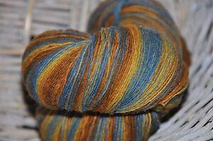 100% Schurwolle Tücherwolle Schafwolle Wolle Lace Strickgarn handgefärbt *910*