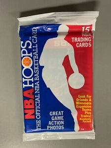 1989-90 NBA Hoops Factory Sealed Wax Pack David Robinson Rookie On Top JS038