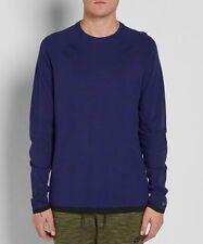 Nike Tech Knit Crew Neck Sweater Sweatshirt Pullover Navy Blue XL 832182 429