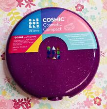 CABOODLES Cosmic Cosmetic Retro Compact Organizer Case - Glitter Purple
