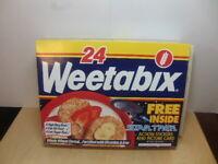 Weetabix – complete 1995 Box with Star Trek scene + Offer alien city