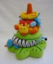 VERTBAUDET impilabile Stack Rings giocattolo morbido Giungla Safari Elefante Giraffa Serpente