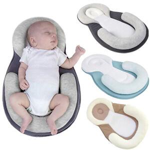 Newborn Baby Mattress Lounger Nest Head Support Pillow Sleep