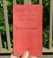 WW1 US ARMY MILITARY AEF 155mm Howitzer Artillery Lines of Information