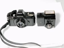 Pentax Auto 110 Film Camera & Flash - Meter Working - Flash Working