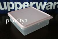 Tupperware Snack Stor Cold Cut Square Container Keeper Pink Prosecco New