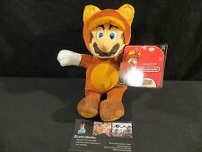 "Tanooki cat Mario plush brown World of Nintendo Jakks Pacific 7.5"" Super Mario"