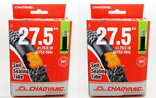 """2x Camara Antipinchazos Rueda de Bicicleta de 27.5 """" Valvula Schrader MTB 3215"""