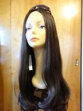 "Malky Wig Sheitel European Hair Multidirectional Wig 28"" Dark Brown #4 XL"
