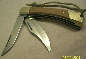 1978~PUMA GAME WARDEN 072~GERMANY~DOUBLE LOCK BACK POCKET KNIFE w/FANCY TOOLING~