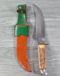 """Edge Brand Solingen Germany Red Stag Original Buffalo Skinner Knife - 14"""""""