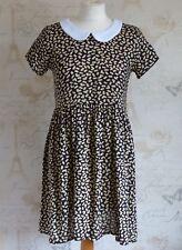 Mini Vestido Mod 60's-70's Estilo Vintage Negro-Beige Estampado Cuello PAN Dolly 8