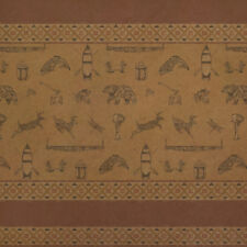 Deer Fish Native American Lodge Design Kraft Roll Gift Wrap Wrapping Paper
