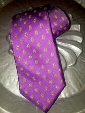 Christian Dior Purple W/print Tie All Silk USA / Italy Vintage Pre-owned