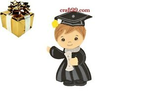 Graduation Party Favors-Graduation Cap and Gown with Diploma