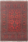 """Vintage Hand-Knotted Carpet 3'3"""" x 4'9"""" Traditional Oriental Wool Area Rug"""