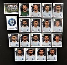 Panini FIFA World Cup Brazil 2014 Complete Team Greece + Foil Badge