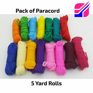 Paracord Multi-Colored Assorted Pack 15 Color Craft Bracelets Survival Camping