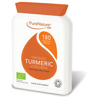 600mg Organic Turmeric Curcumin 180 Veg Capsules with Organic Black Pepper