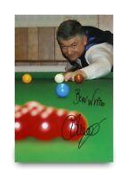 John Parrott Hand Signed 6x4 Photo Snooker Champion Autograph Memorabilia + COA