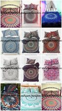 Indian Cotton Mandala Single Queen Size Bed Quilt Duvet Doona Cover Blanket Boho