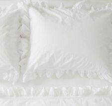 Rachel Ashwell Couture King Flat & Pillowcases 3Pc white Petite Ruffle Sheet Set
