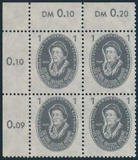 DDR 261,1Pf 250 J. Dt. Akademie der Wissenschaften,ER-4er-Bl.oben li.,dgz/dgz,**