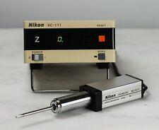 NIKON SC-111 Controller w/Nikon DigiMicro MU-501C Digital Micrometer (#40509)