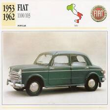 1953-1962 FIAT 1100-103 Classic Car Photograph / Information Maxi Card
