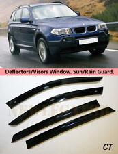 For BMW X3 E83 2003-2010, Windows Visors Deflector Sun Rain Guard