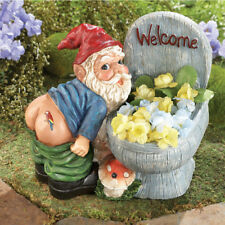 Yard Gnome Figurine Decoration Lawn Funny Ornaments Garden Planter Motion Sensor