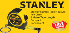 Stanley Fat Max 2 Metre Metric Key Ring Mini Tape Measure FMHT33856 2M Free Post