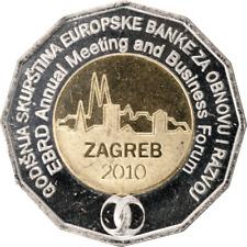 25 KUNA CROATIE 2010 UNC - REUNION ANNUELLE DE LA BANQUE EUROPENNE A ZAGREB
