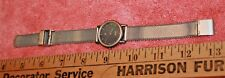 Vintage Boccia Titanium Bezel Ladies Wrist Watch Adjustable Band Swiss Parts