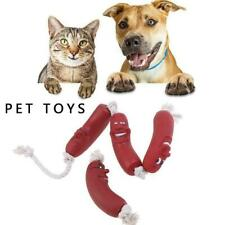 Dogs Pets Fetch Teething 1/3 Sausage Rope Silicone New Playtime Toy 22-60cm Y4L1