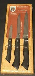 VTG Regent Sheffield Kitchen Knife Set of 3 Stainless Steel Made ENGLAND SEALED