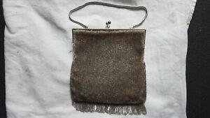 alte Perlen Tasche Abendtasche Fransen Tasche Handtasche mit Glasperlen