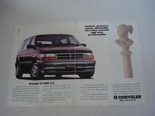advertising Pubblicità 1992 CHRYSLER VOYAGER LE AWD 3.3
