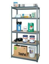Office Shelving Storage Racking 5Tier Shelves Tools Equipment Warehouse Home