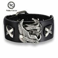 Harley Bracelet Ride Live Bracelet Eagle Chain Davidson Bangle Leather Chopper