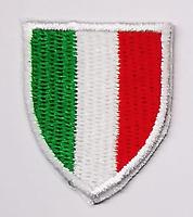 4 TOPPE PATCH RICAMATE TERMOADESIVE KIT ITALIA BANDIERA TRICOLORE 4 X 3,5 CM