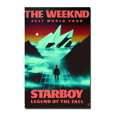 The Weeknd 2017 World Tour Starboy Music Silk POSTER Legend of The Fall 13x20''