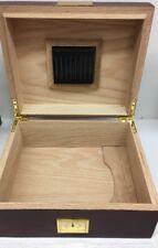 La Cubana Cherry Wooden Cigar Humidor with Golden Metal Read Details (J)