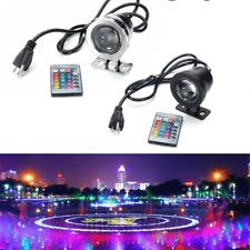10W/20W RGB LED Luz Fuente piscina Estanque Spotlight Bajo El Agua Impermeable + Control Remoto