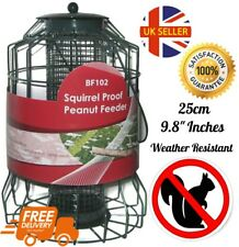 Squirrel Proof Hanging Bird Tube Feeder Cage Station For Nuts Seeds Guard 25cm